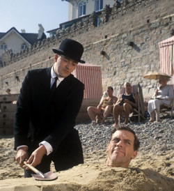 Jeeves assists his master Bertie Wooster