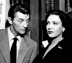 Linda Darnell with Robert Mitchum in Second Chance (1953)