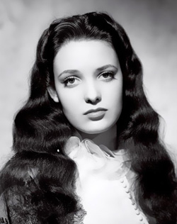 a young Linda Darnell