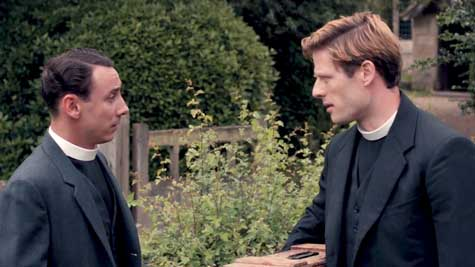 One of you is going to make a wonderful priest. Leonard (Al Weaver) and Sidney (James Norton).