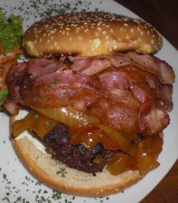 Bacon cheeseburger for gluttons