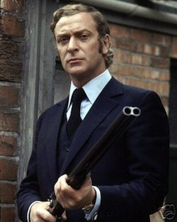 Michael Caine as Jack Carter in Get Carter based upon a Ted Lewis novel.