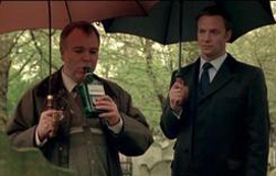 Chandler and Buchan drinking to Mary Kelly in Whitechapel