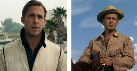 Ryan Gosling and Alan Ladd, Driver of Drive and Shane of Shane