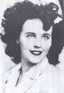 Elizabeth Short also known as the Black Dahlia.