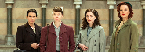 Bletchley Circle Cast: (l to r) Julie Graham as Jean, Anna Maxwell Martin as Susan, Sophie Rundle as Lucy, Rachael Stirling as Millie